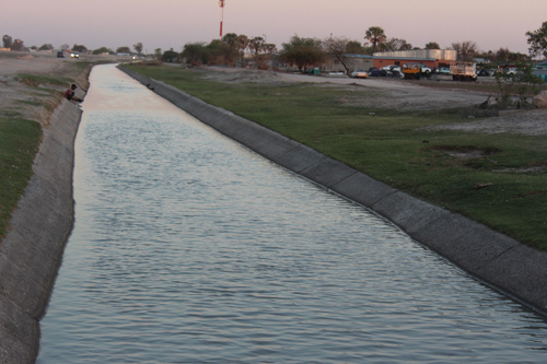Canal reconstruction commences