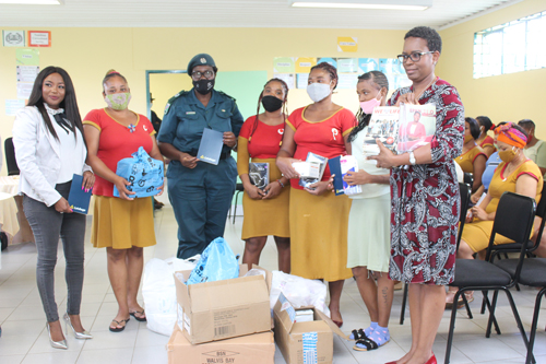Female inmates showered with love
