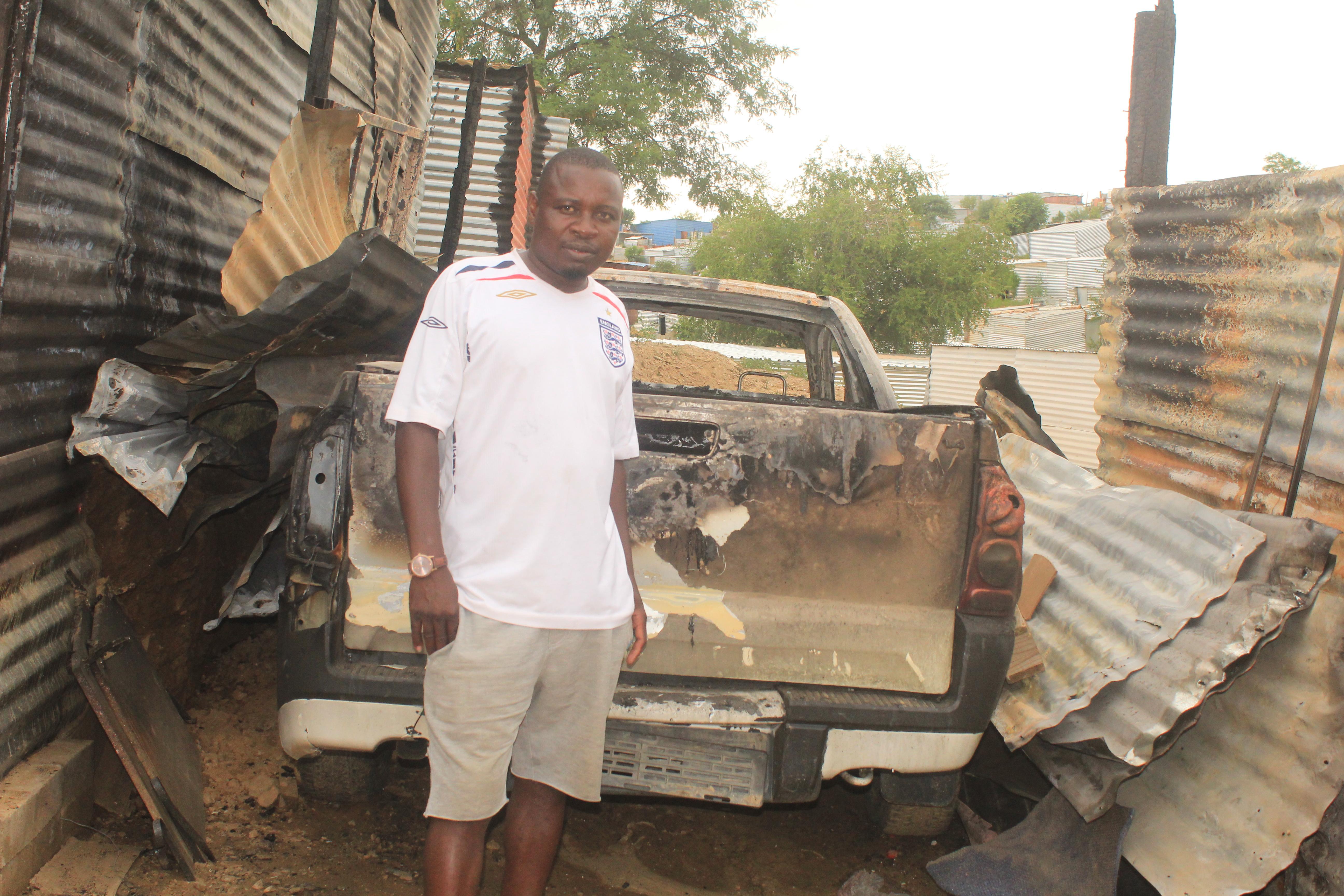 Shack fire leaves man homeless