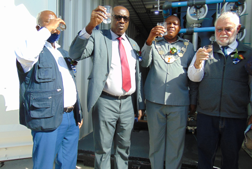 Eenhana gets new water reservoir, defloration plant inaugurated