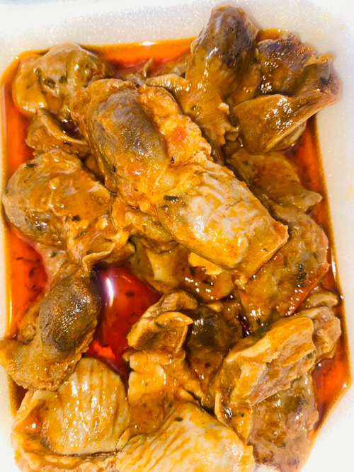 IILA TULYE'S KITCHEN - Sai's chicken gizzards stew