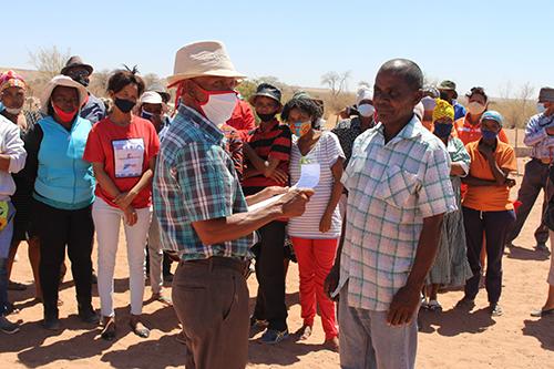 Aroab farmers demand land