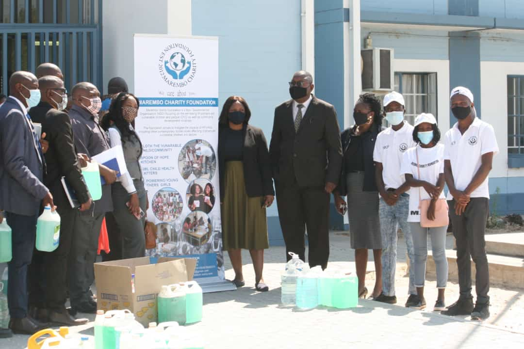 Marembo donates cleaning products to schools